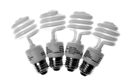 Energy Star-rated CF light bulbs