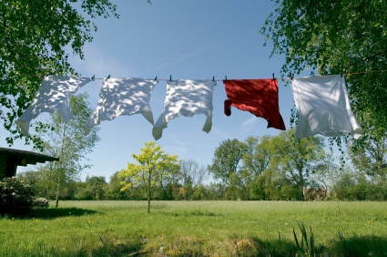 Electric clothes dryers are power hogs. Use a clothesline and save a bundle!